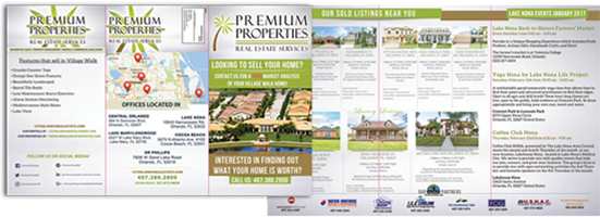 trifold mailers premium properties real estate services